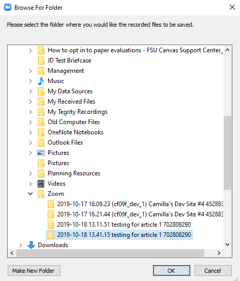 Downloading A Zoom Meeting Recording Fsu Canvas Support Center