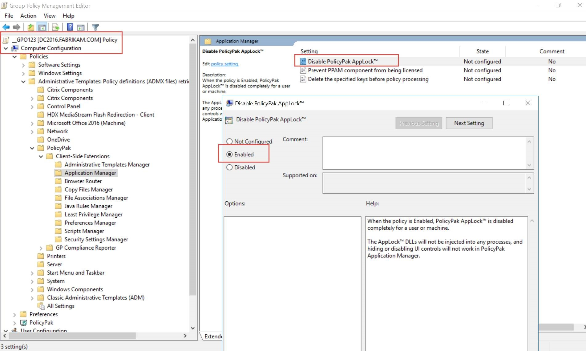 15: How do I turn off PolicyPak Application Manager AppLock